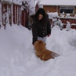 Lexi and Emily in the snow