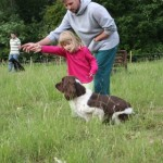 My up and coming gundog trainer getting a few tips!